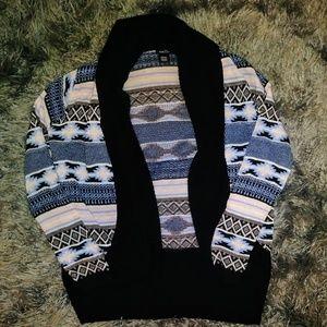 pastel aztec print sweater cardigan 3/15$ M